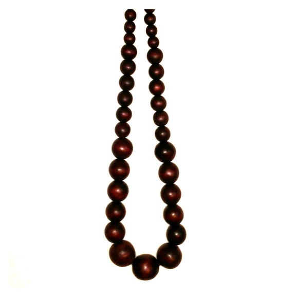 Jewelry - Dark Brown Wooden Beads Statement Necklace